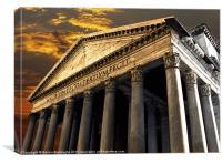 The Pantheon, Canvas Print