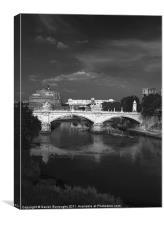 Castel Sant'Angelo Rome, Canvas Print