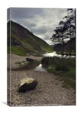 Dovedale, River Dove., Canvas Print