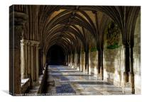 Norwich Cathedral Cloisters, Canvas Print