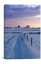 Norfolk Snow Scene, Canvas Print
