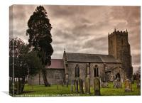 Church of St Mary, Tharston, Canvas Print