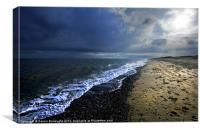 Sun Light On Dunwich Beach, Canvas Print