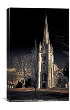 St Mary's Church Saffron Walden, Canvas Print
