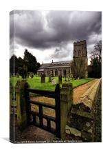 St Margaret, Starston, Norfolk, Canvas Print