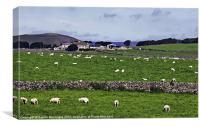 Rowter Farm and Mam Tor, Canvas Print