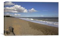 Dunwich Beach Suffolk, Canvas Print