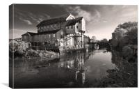 Old flour Mill East Mills, Colchester, Canvas Print