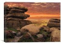 Froggatt Edge Derbyshire, Canvas Print