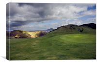 Church Stretton Golf Course, Canvas Print