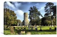 St Peters Church Forncett, Canvas Print