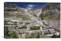 Greenside Mine on Glenridding Beck, Canvas Print