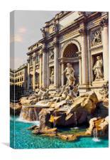 The Trevi Fountain Rome, Canvas Print