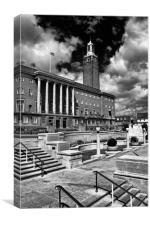 Norwich City Hall, Canvas Print
