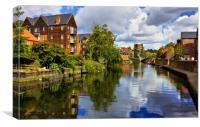 Norwich Riverside, Canvas Print