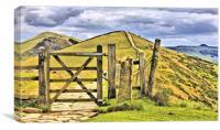 The Great Ridge Castleton In The Peak District., Canvas Print