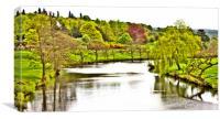 River Derwent at Chatsworth, Canvas Print