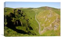 Winnats Pass Derbyshire., Canvas Print
