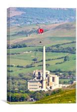 Paragliding at Castleton, Canvas Print