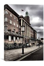 Norwich City Hall., Canvas Print