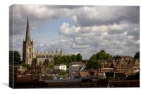 St Mary's Across The Roofs, Canvas Print