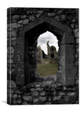 Thetford Priory View, Canvas Print