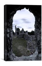 A Different Time. Thetford Priory, Canvas Print