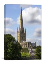 Norwich Cathedral, Canvas Print