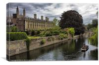 The Backs, Kings College Cambridge, Canvas Print
