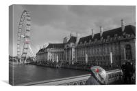 Grey London - I love LONDON, Canvas Print