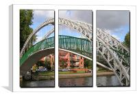 Bedford Suspension Bridge Triptych, Canvas Print