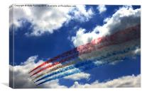 Red Arrows At Goodwood Festival, Canvas Print