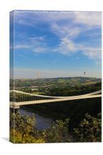 Bristol Balloon Fiesta & Clifton Bridge, Canvas Print
