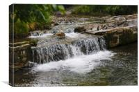Small Waterfall Cascades in Beautiful Slovakia, Canvas Print