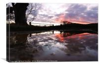 Reflection After Storm Imogen - Sunset, Canvas Print
