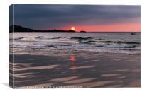 Beautiful St Ives Sunset, Porthmeor Beach Cornwall, Canvas Print