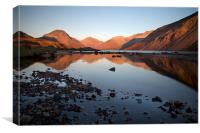 A Wastwater Sundown, Canvas Print
