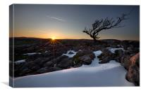 Sundown On Malham Moor, Canvas Print