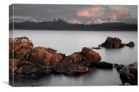 The Beinn Mountains From Gairloch, Canvas Print