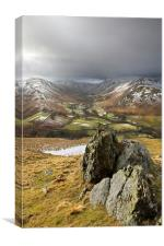 The Glaciated Valley Of Boredale, Canvas Print