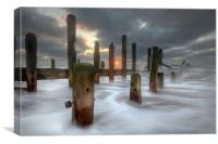 Moody Spurn Point, Canvas Print