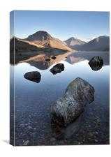 Wasdale Head From Wastwater, Canvas Print