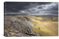 Along Pot Scar To Smearsett Scar, Canvas Print