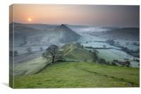 Dawn Over Parkhouse Hill, Canvas Print