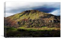 Welsh mountain, Canvas Print