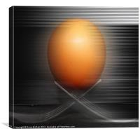 Egg on the move, Canvas Print