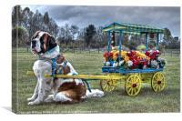 Newfoundland dog, Canvas Print