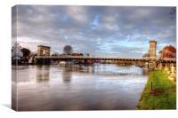 Marlow Bridge, Canvas Print