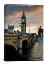 Queen Elizabeth tower, Canvas Print