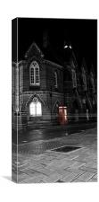 Town Hall and phone box, Canvas Print